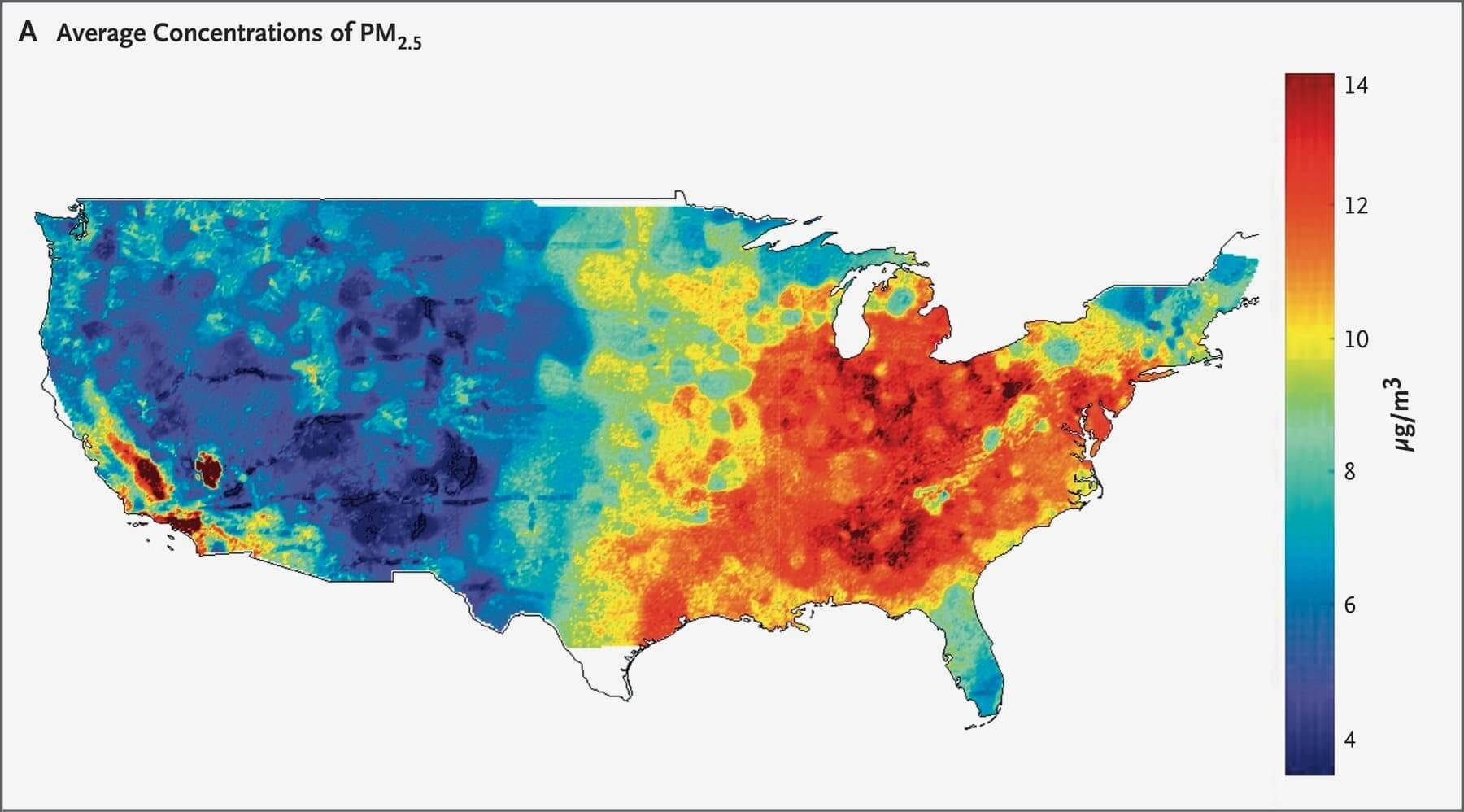Particulate matter pollution in the United States